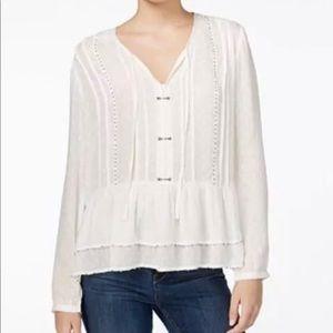 Boho style beige blouse